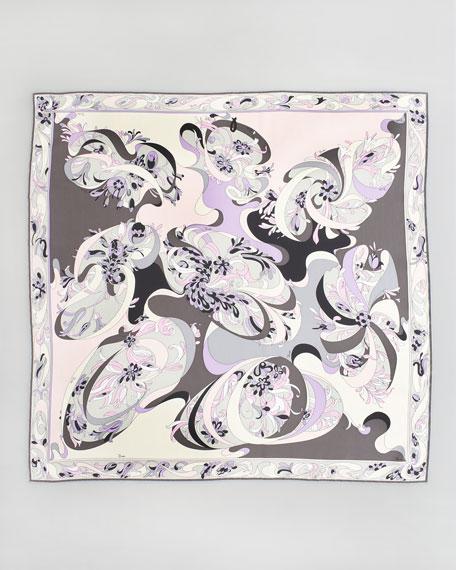 "Evoluzioni Printed Silk Scarf, 35"""