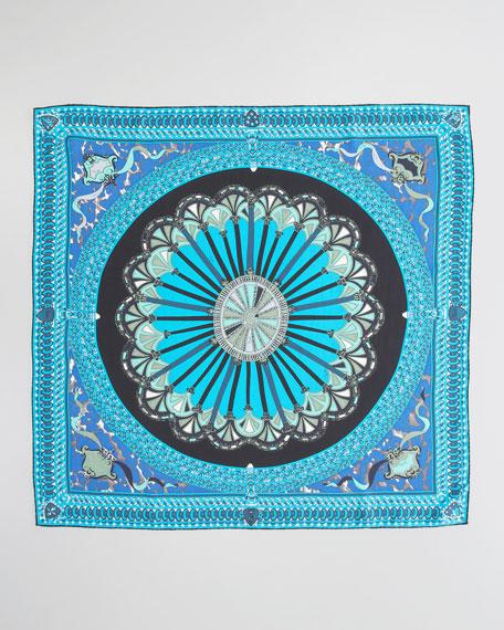 Porticato Printed Silk Scarf