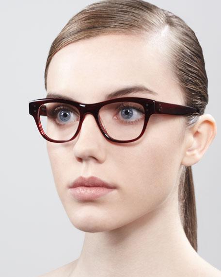 Parsons Fashion Glasses, Red