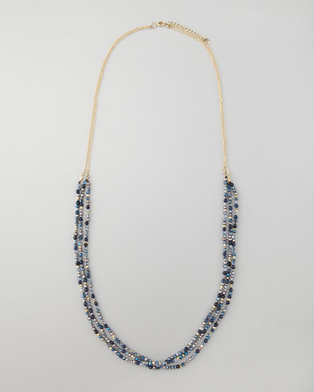 Three-Strand Beaded Necklace
