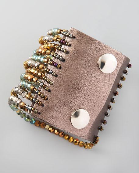 Crystal-Bead Strand Cuff