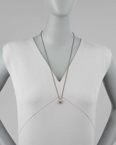 Brass Bonney Skull Necklace