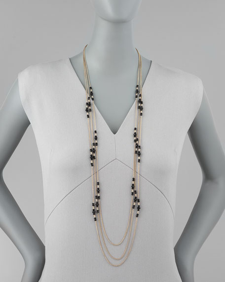 Triple-Strand Bead-Station Necklace