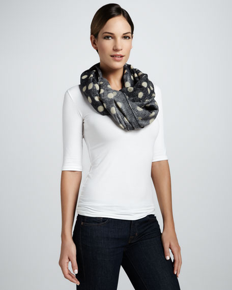 Lightweight Lizard Dot Scarf