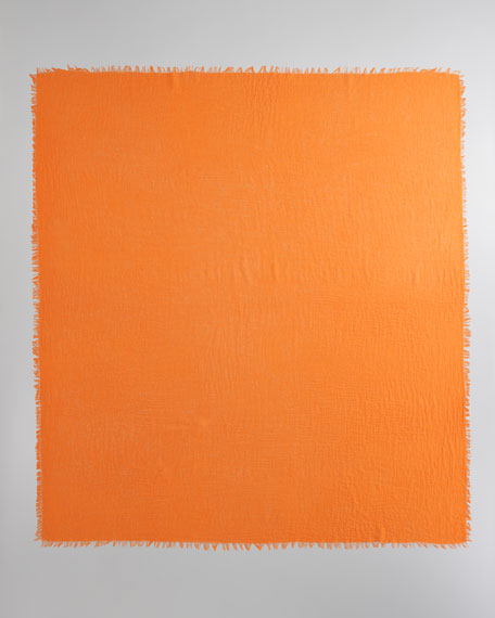 Ultra Lightweight Cashmere Scarf, Orange