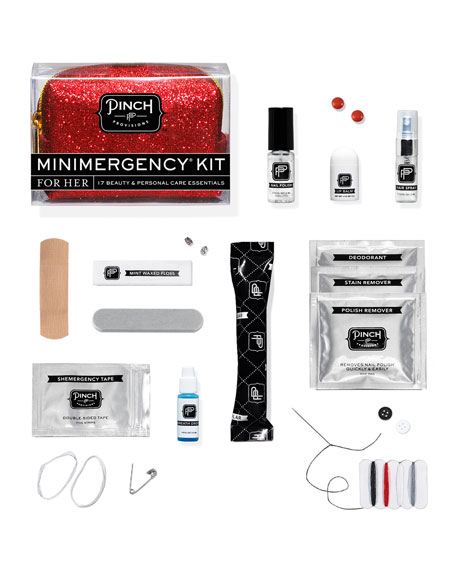Minimergency Kit For Her, Glitter Red
