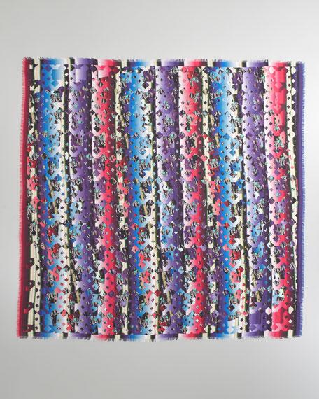Mixed Damask Stripe Scarf, Pink