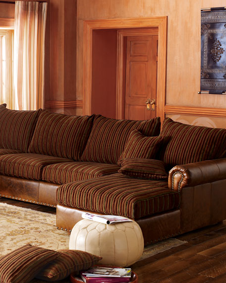 Striped Sectional Sofa