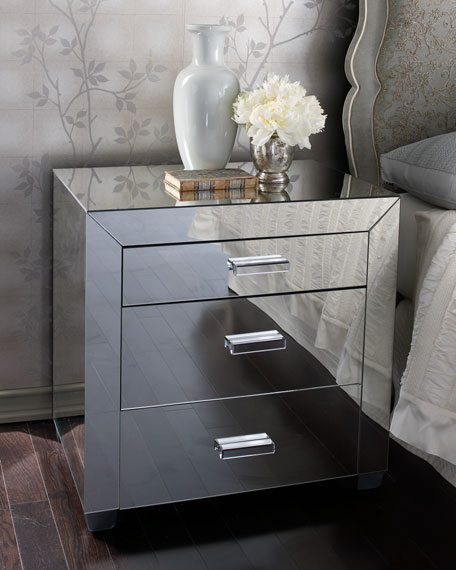 """Clairmonte"" Mirrored Nightstand"