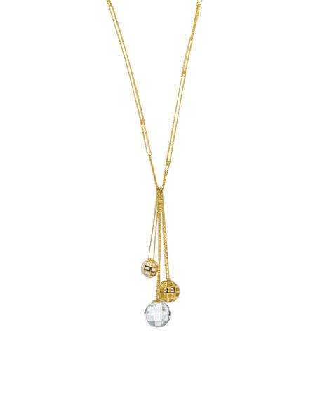 Facettes Long Gold Necklace