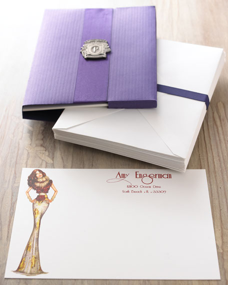 "Fifteen ""Pergie"" Cards with Personalized Envelopes"