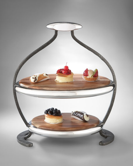 """Anvil"" Two-Tier Serving Tray"