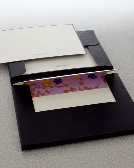 Eight Violet Cards & Envelopes