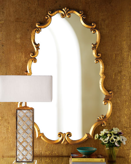 Oval Draped Mirror