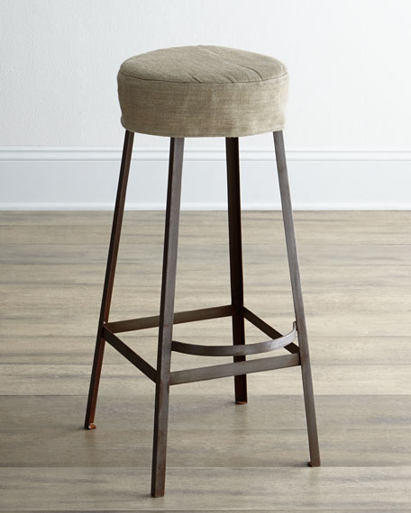 """Nina"" Slipcovered Barstool"