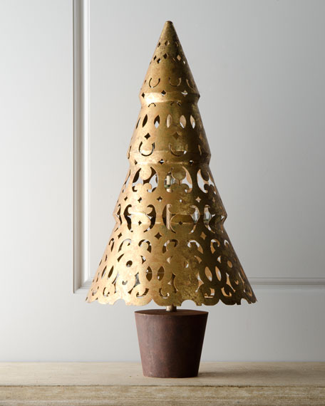 """Bordeaux"" Christmas Tree Votive Holder"