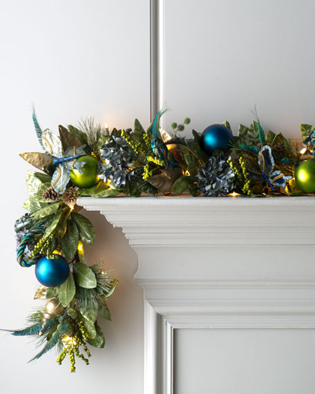 """Blue Spruce"" Pre-Lit Holiday Garland"