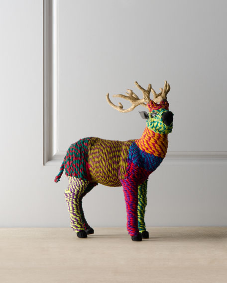 """Artisan"" Standing Tabletop Deer Figure"