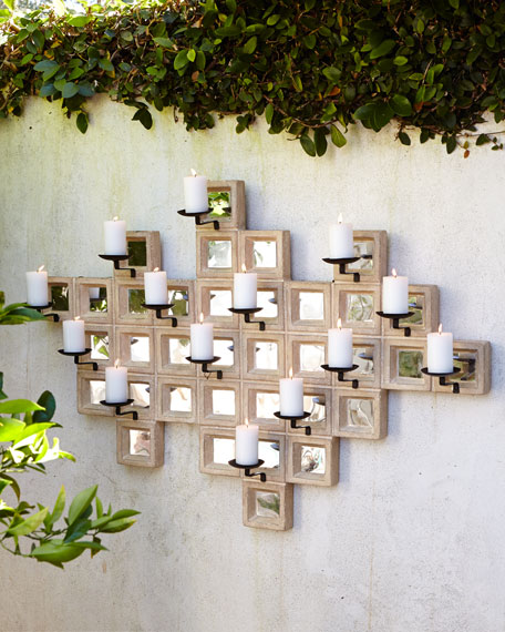 Limestone Candle Sconce