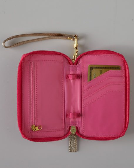 """Pink """"Spike the Punch"""" iPhone Wristlet"""