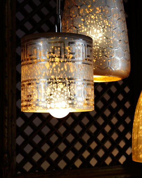 """Lattice"" Bell Pendant Light"
