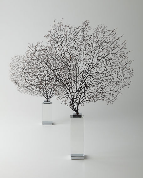 "Two ""Corrine"" Coral Sea Fan Sculptures"