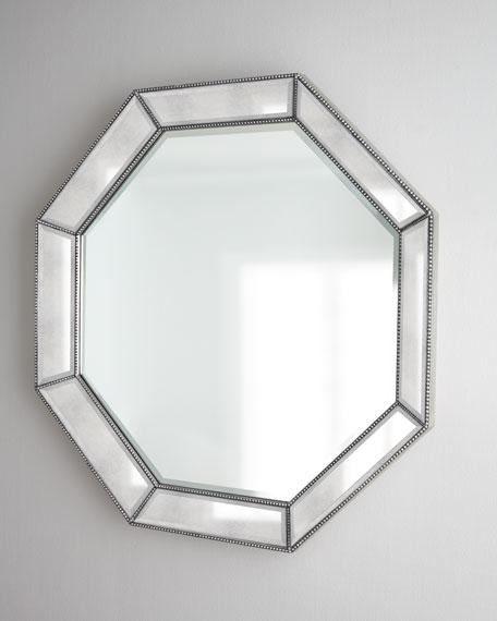 Octagonal Beaded-Trim Mirror