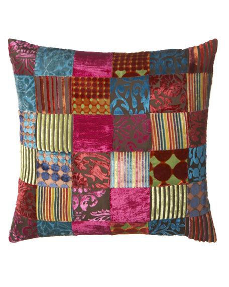Velvet Patchwork Pillow