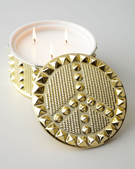 """Peace"" Studded Candle"