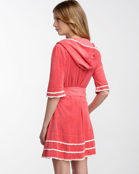 Crocheted-Trim Robe