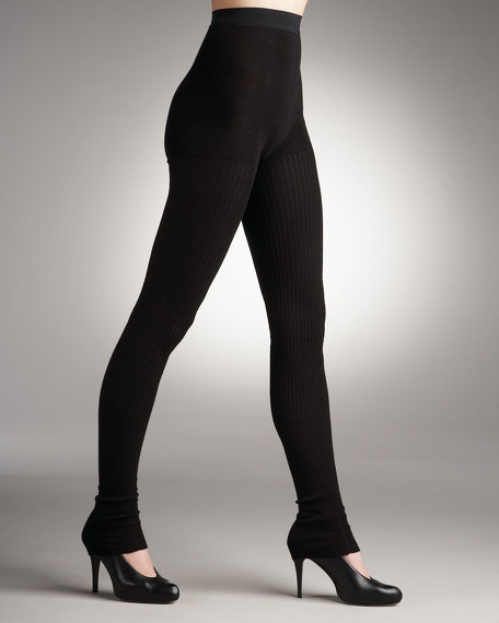 Ribbed Over-The-Heel Leggings