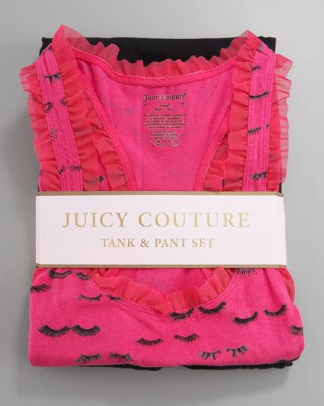 Eyelash-Print Tank & PJ Pants Set