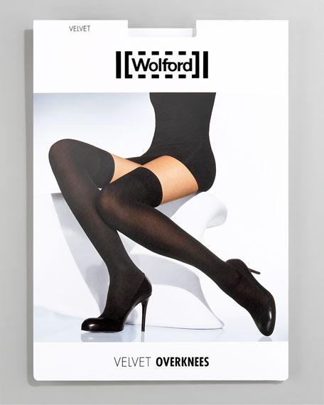 Velvet Over-the-Knee Stockings