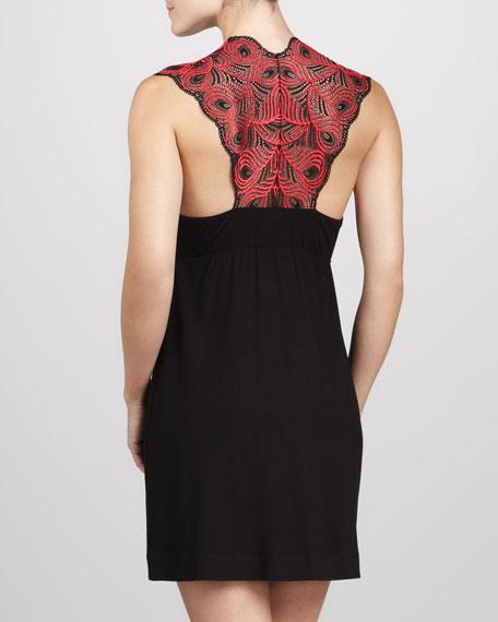 Peacock Two-Tone Slip Dress