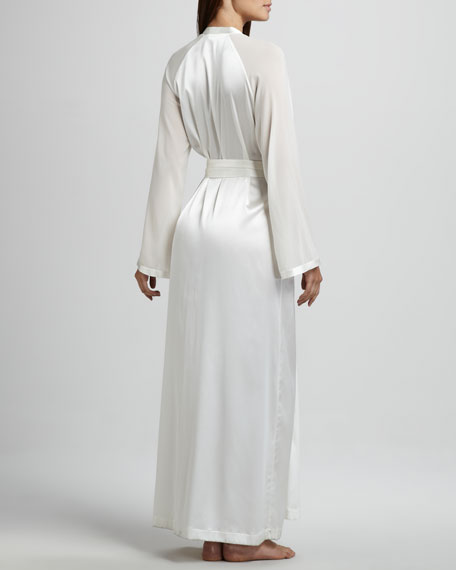 Vestaglie Long Silk Robe, Neutral