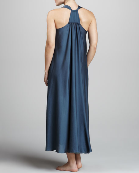 Georgette Sleepwear Gown, Twilight Blue