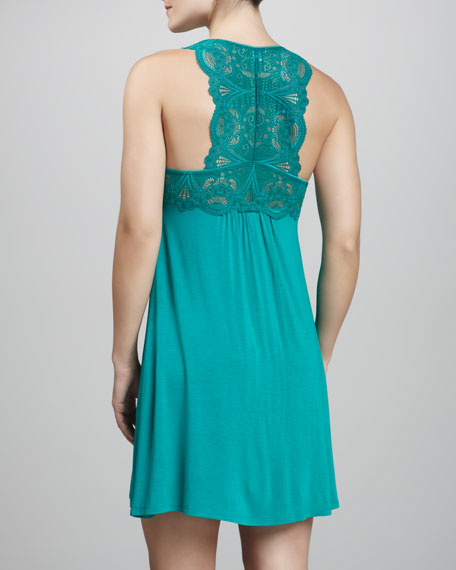Lace-Top Tank Dress, Blue Grass