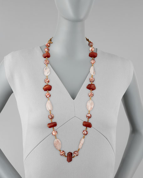 Multi-Stone Station Necklace