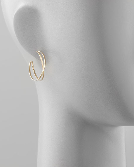 Petite White Night Hoops