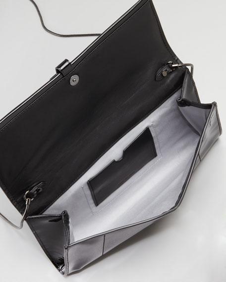 Patent Leather Standard Clutch Bag, Black