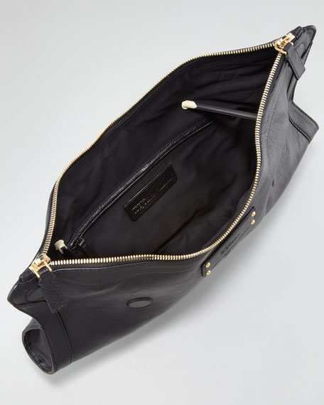 De-Manta Calfskin Clutch Bag