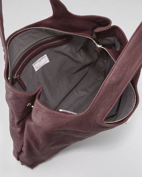 Leather Tank Tote Bag, Large