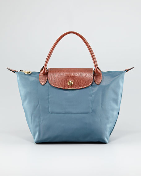 Le Pliage Small Handbag, Duck Blue
