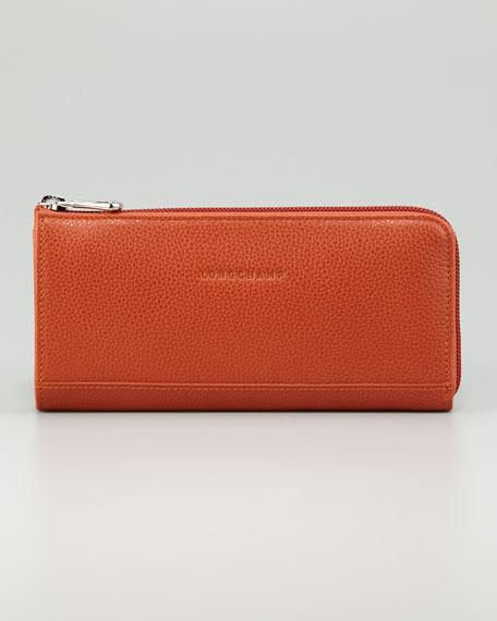 Veau Foulonne Zip Wallet