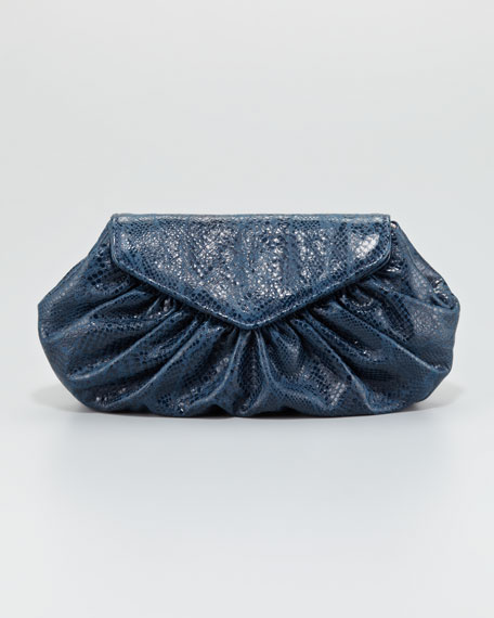 Diana Python-Embossed Pouchette