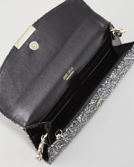 Riane Glitter Clutch Bag, Silver