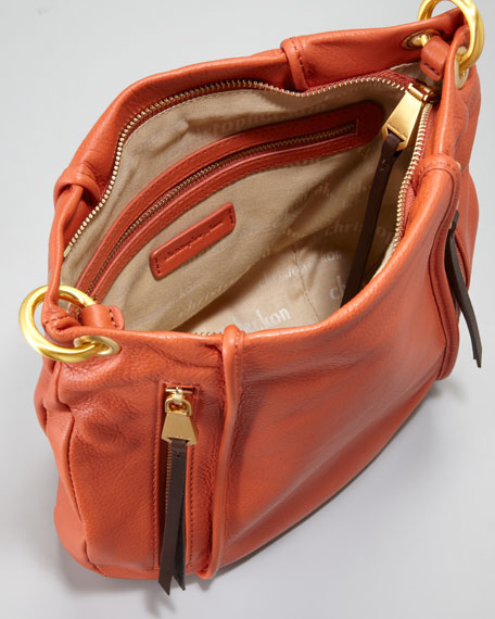 Blake Crossbody Messenger Bag, Orange