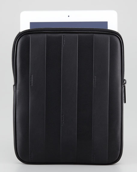 Pequin Striped Leather iPad Case