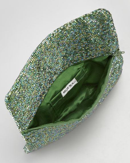 Beaded Envelope Clutch Bag