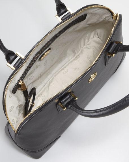 Robinson Dome Satchel Bag, Black